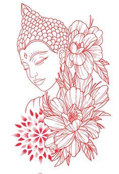 Buddha Tattoo Design, Tattoo Design Drawings, Tattoo Sketches, Dope Tattoos, Body Art Tattoos, Small Tattoos, Sleeve Tattoos, Tatoos, Buda Tattoo