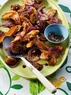 Balsamico-Zwiebel-Hähnchen
