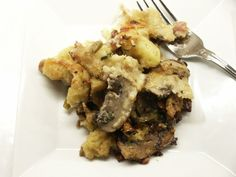 Moveable Feasts: Ina's Leek and Mushroom Bread Pudding