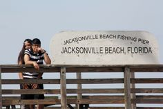 Love on Jacksonville Beach Fishing Pier. Jacksonville Beach, Us Beaches, Amazing Photography, Fishing, Florida, Romance, The Florida, Romance Film, Fishing Rods