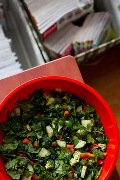 staying hungry : chopped everything salad