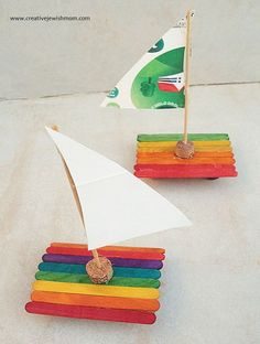 Ahhh, wouldn't you like to set sail on a popsicle stick sailboat over the clear blue ocean right about now? Well we certainly can dream can't we? And especially if we gather together a few simple supplies and make our...