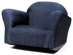 Keet Bubble Denim Children's Chair