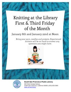 Friday Knitting South Orange, West Orange, South San Francisco, Might Have, Bring It On, Friday, Knitting, Ideas, Tricot
