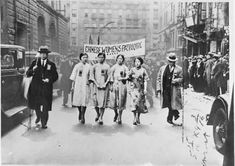 Four Chinese women, of the Chinese Women's Patriotic League of New York, marching in the Easter parade, April 1932.