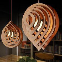 Modern Wood Pendant Light Nordic Wooden Water Drop Pendant Lamp Loft Pendant Lights Dining Room Home Lighting Decor Wood Pendant Light, Pendant Lights, Pendant Lamps, Modern Art Deco, Wood Lamps, Wooden Chandelier, Home Lighting, Modern Lighting, Lighting Ideas