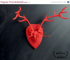 SALE  Stag Faux Taxidermy deer anatomical by TheRogueAndTheWolf, $81.00