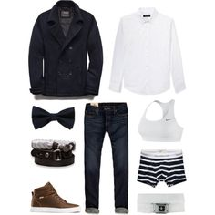 A fashion look from November 2013 featuring Hollister Co. jeans and NIKE sports bras. Browse and shop related looks. Butch Fashion, Androgynous Fashion, Tomboy Fashion, Teen Fashion, Fashion Outfits, Tomboy Style, Lesbian Outfits, Gay Outfit, Tomboy Outfits