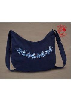 Szervető-jászsági félhold táska - kék, futómintás Shoulder Bag, Bags, Fashion, Handbags, Moda, Fashion Styles, Shoulder Bags, Fashion Illustrations, Bag