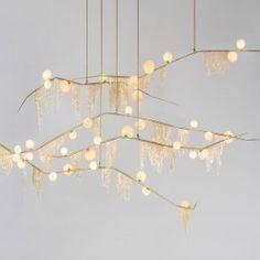 Modern Aluminum Chain LED Pendant Light for Hotel Hall Restaurant Dining Room - Dorm Lighting - Ideas of Dorm Lighting Led Pendant Lights, Glass Chandelier, Ceiling Pendant, Ceiling Lamp, Chandelier Lighting, Pendant Lamp, Ceiling Lights, Chandeliers, Vintage Chandelier