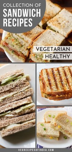 With this selection of 40 sandwich recipes, lunch shouldn't be boring anymore! These simple vegetarian sandwiches are easy to make and we even show you how to make each one! How much more simple could you get! Try these healthy sandwich recipes that omit meat! #vegetarian #sandwich #healthy #sandwiches #lunch #sandwichrecipes
