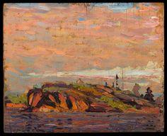 Tom Thomson Catalogue Raisonné   Rock, MacCallum's Channel, Summer 1914 (1914.33)   Catalogue entry