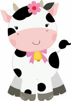Cute Farm for Girls Clip Art. Farm Animal Party, Farm Party, Cow Birthday, Girls Clips, Baby Cows, Clip Art, Farm Theme, Cute Images, Farm Animals