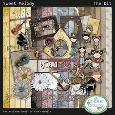 Sweet Melody - Kit- Simply Love Scrapbooking | Digital Scrapbook Store