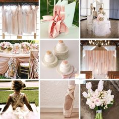 Ballet Inspired Wedding Mood Board (See blog for image credits)