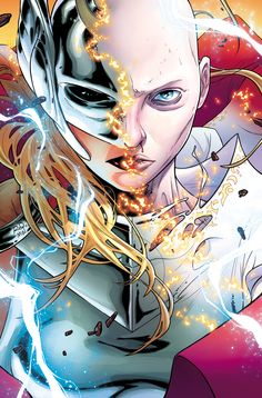 Russell Dauterman is an illustrator and character designer, best known as the artist of the Marvel comic book series, THE MIGHTY THOR. Lady Thor, Thor 1, Ms Marvel, Marvel Comics Art, Cosmic Comics, Female Comic Characters, Marvel Comic Character, Comics Illustration, Illustrations
