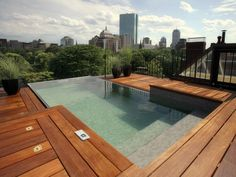Like the color on the bottom of this pool.Check out these incredibly luxurious pool and deck designs at DIYNetwork.com.