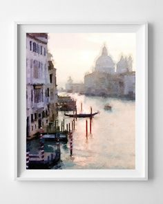 Venice Painting, Watercolor Art Print, Giclee, home and living wall art,Borderless,Pic no 23