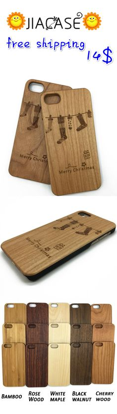 #Christmas #Stockings #iPhone 7 6 5 #Case #Wood #Samsung #Galaxy S Edge #Cover