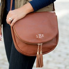 Sienna Tassel Bag with Monogram | Gentry California | $38 | Click link to shop: http://www.gentrycalifornia.com/collections/monogrammed-bags-accessories/products/sienna-tassel-bag-with-monogram