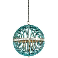 Cupertino And Turquoise Five Light Alberto Turquoise Orb Chandelier Currey Company Globe P