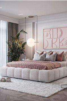 Modern Luxury Bedroom, Luxury Bedroom Design, Room Design Bedroom, Girl Bedroom Designs, Room Ideas Bedroom, Home Room Design, Modern Room, Luxurious Bedrooms, Home Decor Bedroom
