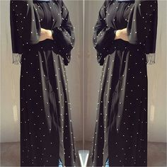 Check out these beautiful abayas from HAUTE ELAN designed by Feradje, a turkish Brand. The quality is so good according to the Famous beauty @Withloveleena who got to taste their black Abaya with pearls, we also added three more designs…