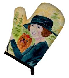 Lady driving with her Yorkie Oven Mitt SS8550OVMT