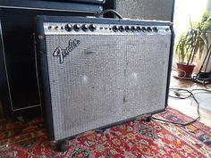 Vintage 70's FENDER TWIN REVERB silverface 135 watt tube amp JBL D120-F SPEAKERS