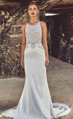 Featured Dress: Elbeth Gillis; Wedding dress idea.