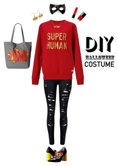 """Super Human"" by castles-inthesky ❤ liked on Polyvore featuring Circus By Sam Edelman, Chiara Ferragni, Edge Only, MAC Cosmetics, halloweencostume and DIYHalloween"