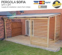 Porch With Pergola, Pergola Garden, Pergola Attached To House, Outdoor Pergola, Patio Roof, Diy Pergola, Pergola Roof, Cheap Pergola, Gazebo