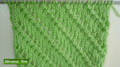Silvana Tim - Tejido con dos Agujas, Crochet, Recetas de Cocina: Punto (puntada) LINEAS en DIAGONAL. Knitting. Teji...