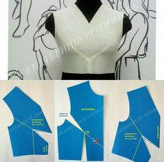 y shaped center dart pattern on Pattern Drafting Tutorials, Sewing Tutorials, Dress Tutorials, Dress Sewing Patterns, Clothing Patterns, Blouse Patterns, Skirt Patterns, Coat Patterns, Techniques Couture