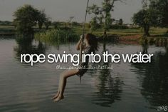 rope swing into the water