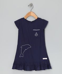 Take a look at this Navy Dolphin Embroidered Shift Dress - Infant by Alejandra Kearl Designs on #zulily today!