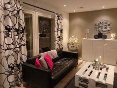 Modern Scandinavian Black and  white livingroom