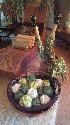 GIANT Knitting Needles by GoGirlKnitting on Etsy, $87.00. I want these!