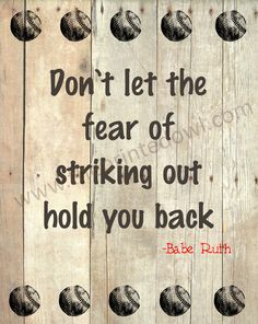 Baseball quote print/ Babe Ruth baseball quote by ThePrintedOwl, $10.00