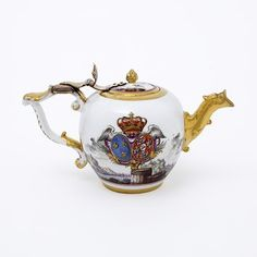 Teapot Made By Eloy Brichard And The Meissen Porcelain Factory - Paris, France And Meissen, Germany  c.1756-1762