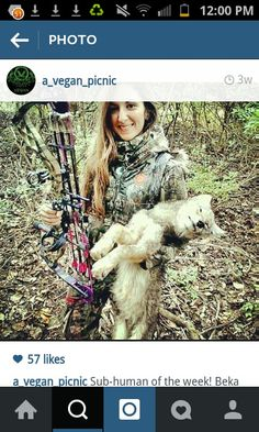 Wow, a woman that feel pleasure killing defenseless pups. she is my new emancipation hero! What a useless waste of oxygen she is! Bet she kicks the neighbor's cat, too. People Like, Horrible People, Stop Animal Cruelty, Dog Fighting, Monster, Animal Rights, Animal Rescue, Sick, Hunting