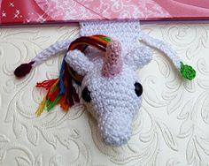Unicorn Bookmark Rainbow unicorn bookmark by LovinknitUK on Etsy