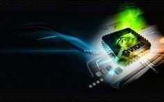 Nvidia logo 3D Free HD Wallpaper