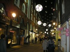 Christmas at St Christophers Place in London