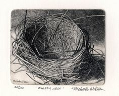 Empty Nest Original Etching by Nicholas Wilson
