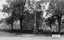 Flat Rock MI High School Divison Street RPPC Real Photo Postcard