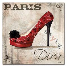 Paris Fashion, Fashion Art, Fashion Shoes, Pumps Heels, Stiletto Heels, High Heels, Jean Miro, Art Sur Toile, International Style