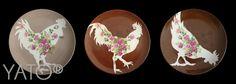 Customized Vintage plates Porcelain by Béa Corteel Collection Customs © POULETTES