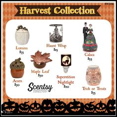 Fall 2016 Harvest Collection, available Sept 1st. Order at www.smellarific.com. Flyer by Angela O'Hare