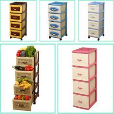 Multi Purpose Modern Stylish Storage Cabinet Drawers Home Office Kitchen Racks
